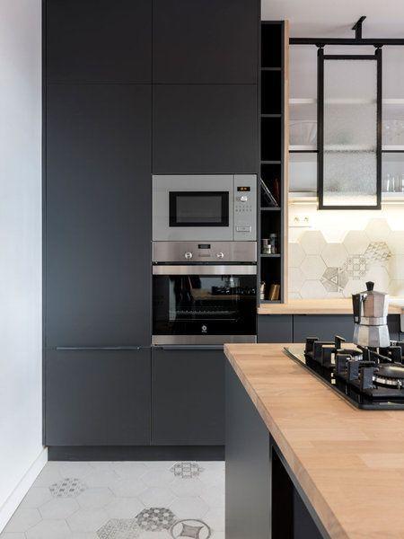 Bien resuelta #cocinasmodernasgrises | Cocinas modernas | Pinterest ...