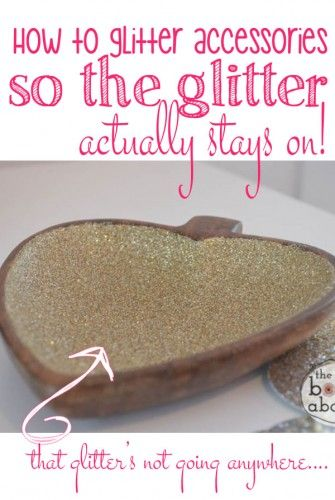 How to Glitter Accessories So the Glitter Actually Stays On