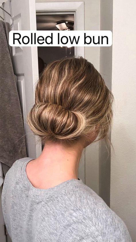 Rolled low bun