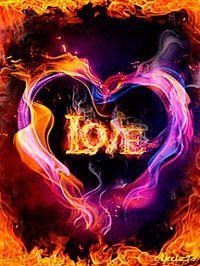Amazing Burning Hearts Gif Images - Best Animations