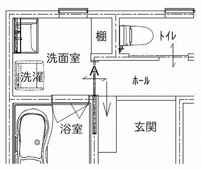 洗面室は ドア より 引戸 にしたい バスルーム 収納 アイデア