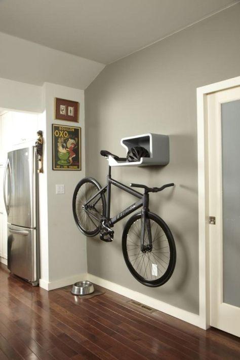 Bike rack + shelf +helmet stow