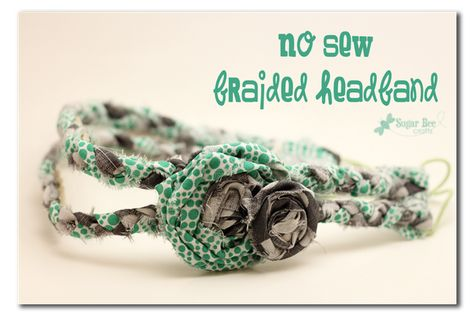 No sew braided headbands  (would make a great girls camp craft)