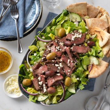 Greek Beef Salad Recipe Salad Recipes For Dinner Beef Salad Beef