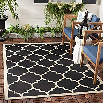 Amazon Com Safavieh Courtyard Collection Cy6914 266 Black And Beige Indoor Outdoor Area Rug 6 Indoor Outdoor Area Rugs Outdoor Area Rugs Indoor Outdoor Rugs