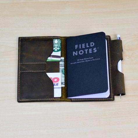 Field Note Case, Moleskine case, Wallet with Pen Holder, Notebook - field note