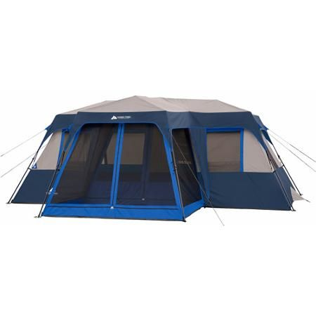 Ozark Trail 12 Person 2 Room Instant Cabin Tent With Screen Room Walmart Com Cabin Tent Family Tent Camping Best Tents For Camping