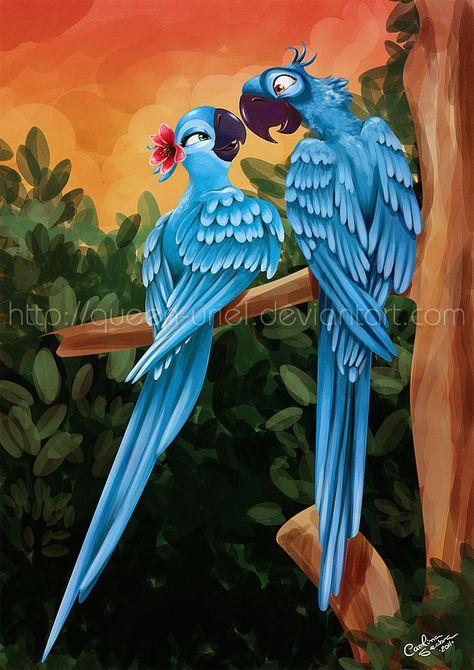 Lovebirds by *Queen-Uriel on deviantART