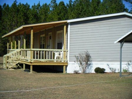 mobile home porches | finished covered porch on double wide ... on