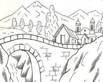 16 Gambar Lukisan Pemandangan Alam Hitam Putih 45 Koleksi Lukisan Pemandangan Alam Hitam Putih Terbai In 2020 Nature Drawing For Kids Coloring Pictures Easy Drawings