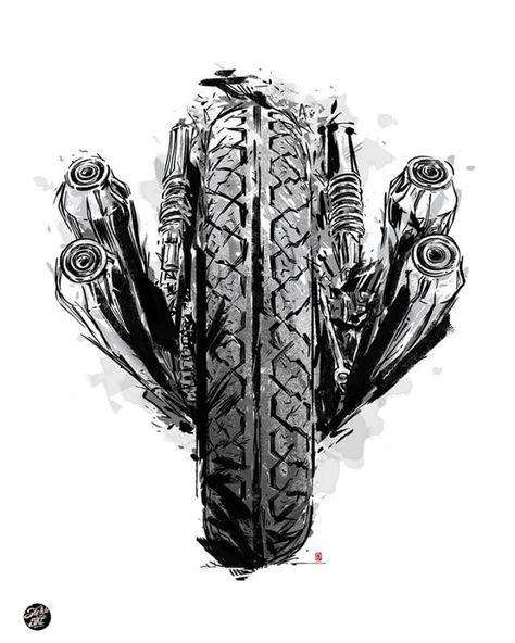 Illustration motorcycles - Sketchmybike #illustration #design #motorcycles #moto...