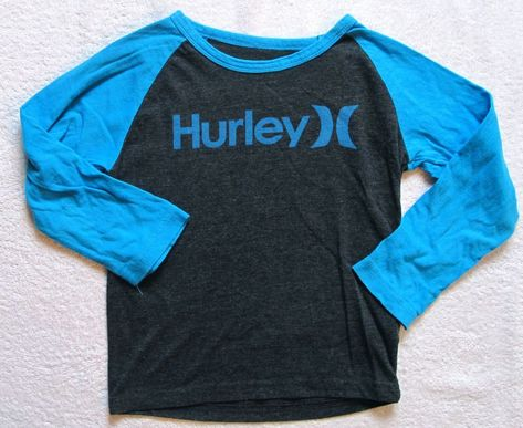 New Hurley short sleeve T shirt boys black or turquoise blue 2T  or 4T