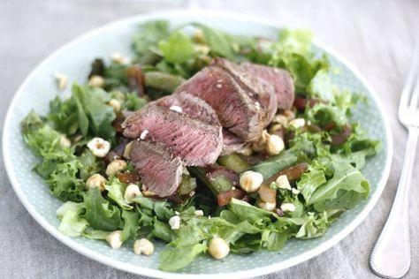 Skinny Six: Herfstsalade met biefstuk en hazelnoten