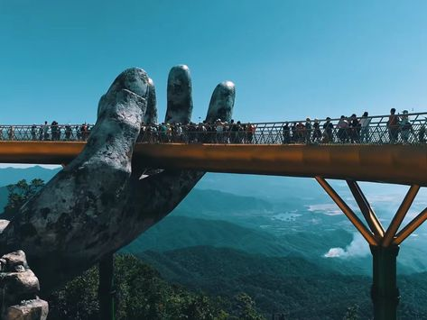 Vietnam #bridge held up by two giant hands