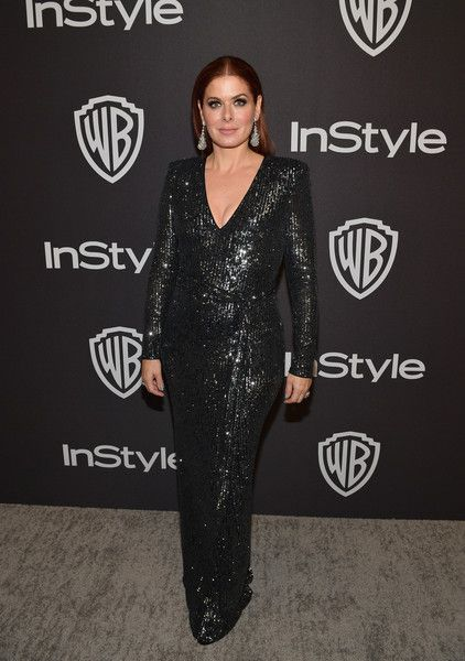 Debra Messing attends the 2019 InStyle and Warner Bros. 76th Annual Golden Globe Awards Post-Party at The Beverly Hilton Hotel.
