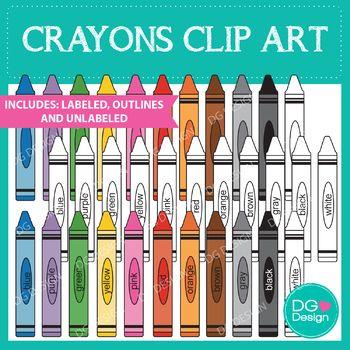 Crayon Clipart Clip Art Purple Crayon Black Crayon