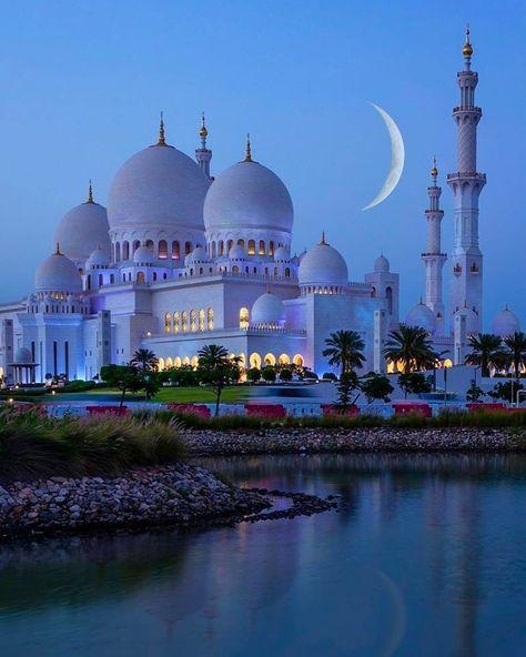 Architecture Discover Night at Sheikh Zayed Mosque Abu Dhabi United Arab Emirates. Photo by Nature Architecture Mosque Architecture Ancient Architecture Abu Dhabi Beautiful Mosques Beautiful Places Wonderful Places Best Honeymoon Locations Mecca Kaaba Nature Architecture, Architecture Antique, Mosque Architecture, Ancient Greek Architecture, Abu Dhabi, Beautiful Mosques, Beautiful Buildings, London City, Best Honeymoon Locations