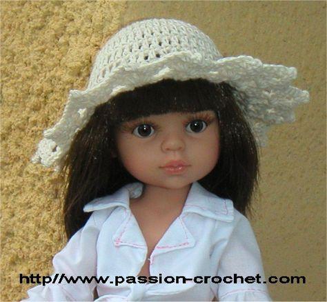 Chapeau au crochet pour poupée Chéries de Corolle
