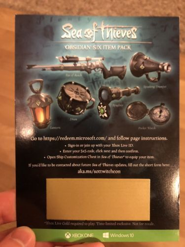 Prepaid Gaming Cards 156597: Sea Of Thieves Obsidian Pack