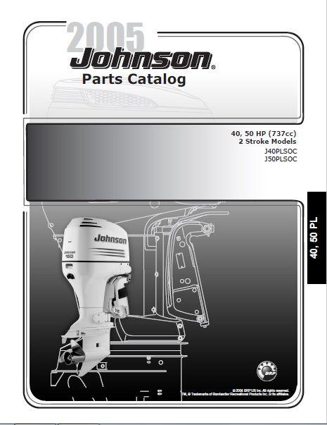 2005 Johnson Evinrude 40 50hp 2 Stroke Parts Catalog Manual Download Dsmanuals In 2021 Parts Catalog Repair Manuals Repair