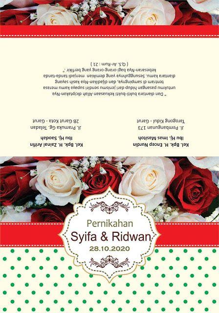 17 Desain Undangan Motif Bunga Vintage Cdr Desain Undangan Undangan Undangan Pernikahan
