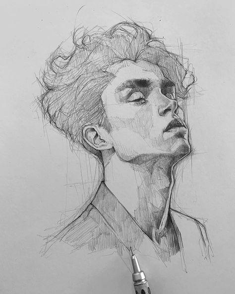 ✍️ #sketching #graphite #mechanicalpencil #graphgear1000 #maloart