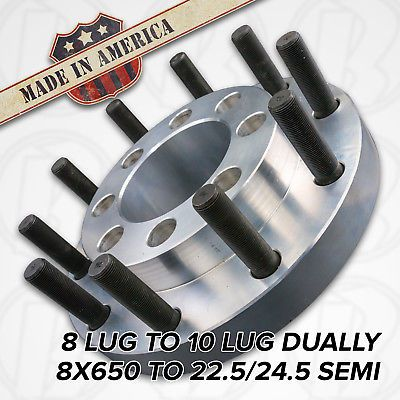 Usa 8 Lug To 10 Lug 8x6 5 To 22 5 Semi Wheel Adapters 2 Chevy Gmc Ebay 10 Things Wheel Gmc