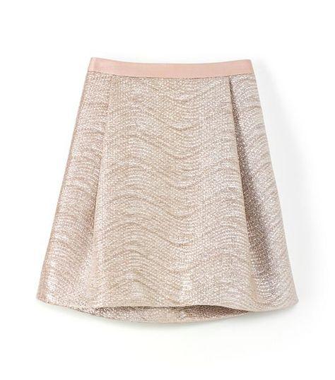 Shimmer skirt // Tory Burch