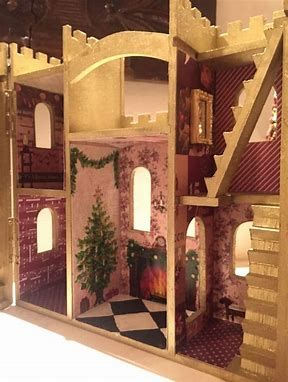 Image Result For Painting A Wooden Castle Dollhouse From Michaels