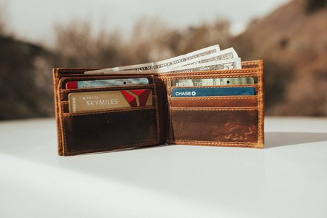 Bifold Leather Wallet - Antique Brown