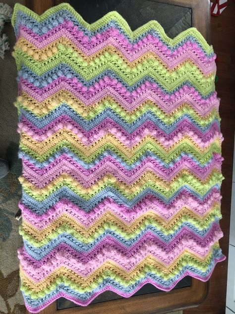 Baby Afghan for Mollie Grace - pattern Hugs and Kisses afghan from