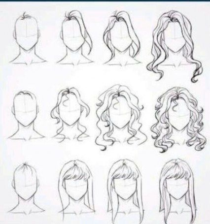 Hair Styles Step By Step Sketch 61 Ideas Drawing Hair Tutorial Step By Step Sketches Cartoon Hair