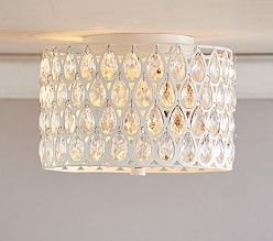 Clear Acrylic Round Flushmount Chandelier Pottery Barn Kids Cute For Kidssss Pinterest Chandeliers And