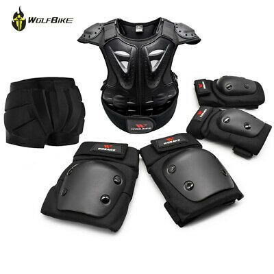 Motorbike Racing Bule Helmet for Kids /& Leather Jackets with Protection Armour