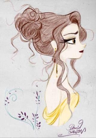 Meine Disney Zeichnung - Belle principessa #DisneyZeichnungaquarell #DisneyZeichnungleinwand #tassiloDisneyZeichnung