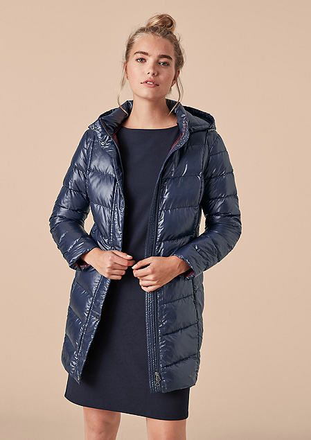 triangle stepp mantel jacke blau