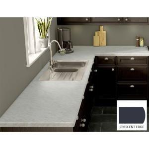 Wilsonart White Carrara Laminate Custom Crescent Edge C F