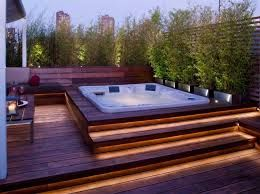 Image Result For Hot Tubs Built Into Deck Utomhusjacuzzi Drömhus Pool Design