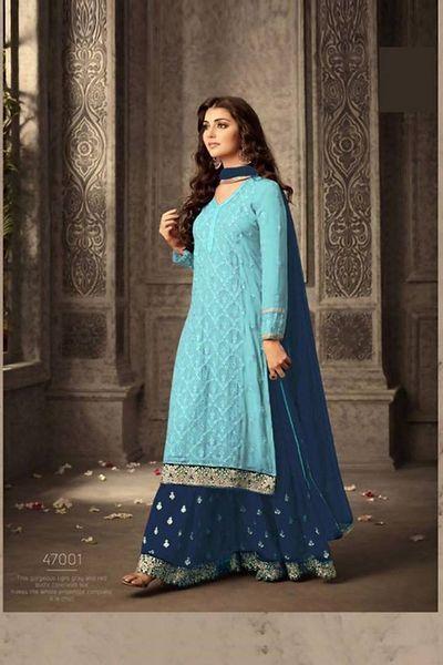 Ready to ship Peacock Green Silk Satin Dupatta l Indian Dupatta l Embroidered Dupatta l Pakistani Dupatta