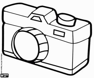Desenho De Uma Maquina Fotografica Para Colorir Desenhos Para