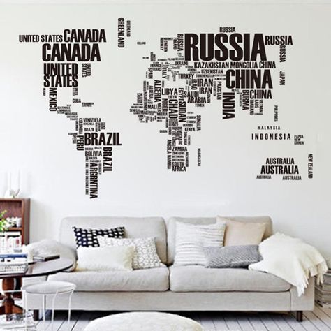 Editorsu0027 Picks Wall Decals, Stencils, and Wallpaper Wall decals - fresh world map outline decal