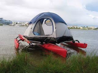 Adventure Island Kayak Tent on a Kayak & Adventure Island Kayak: Tent on a Kayak | Kayak Accessories ...