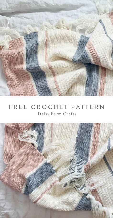 Crochet Afghans, Knit Or Crochet, Crochet Stitches, Crochet Baby, Crochet Patterns, Knitting Patterns, Sewing Patterns, Crochet Blankets, Baby Blanket Crochet