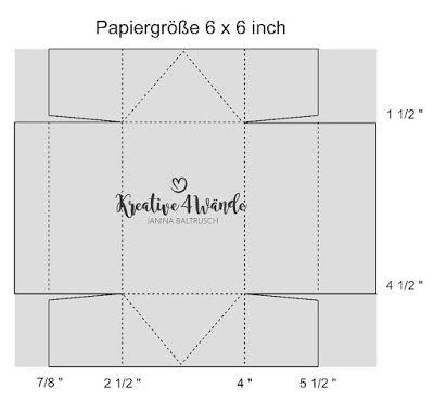 Anleitung Kleine Dreieck Box Kreative4wände Schachtel