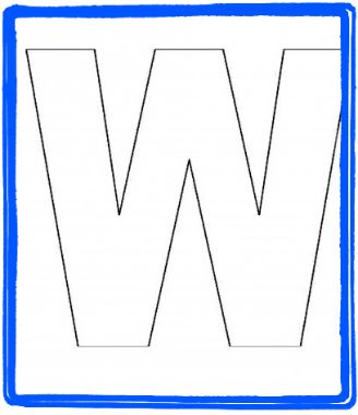 Alphabet Letter W Templates Are Perfect For Preschool And