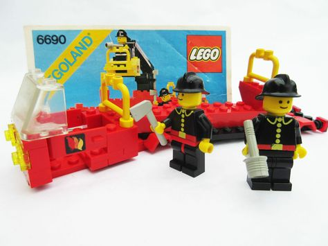 999 Lego 6690 Snorkel Pumper City Town Fire Truck Instructions With