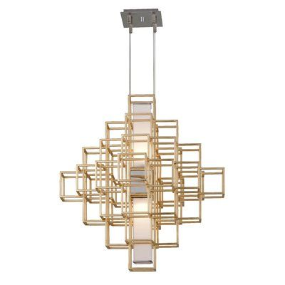 Corbett Lighting Metropolis 2 Light Unique Statement Geometric Chandelier Corbett Lighting Geometric Chandelier Led Chandelier