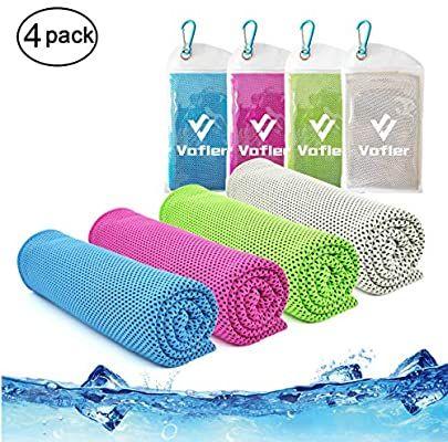 Amazon Com Cooling Towel Vinsco 4 Pack Cool Towels Microfiber