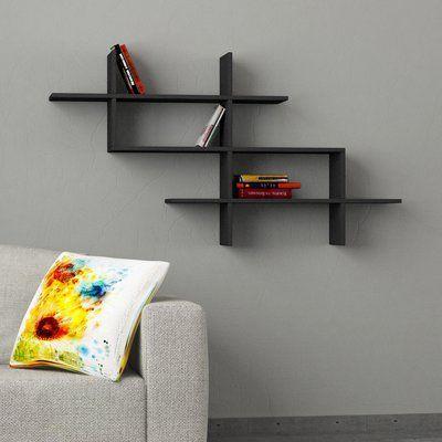 Latitude Run 3 Piece Accent Shelf Modern Wall Shelf Floating Shelves Kitchen Floating Shelves
