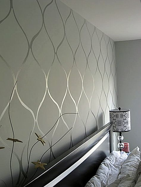 I want to try this, maybe stripes in  my bedroom - tiffany blue with same shade gloss alternating with flat